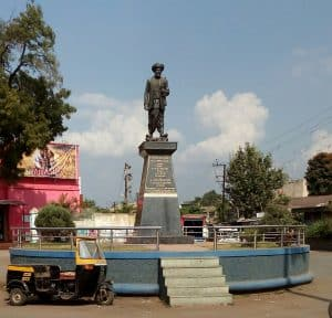A statue of Jotirao Phule