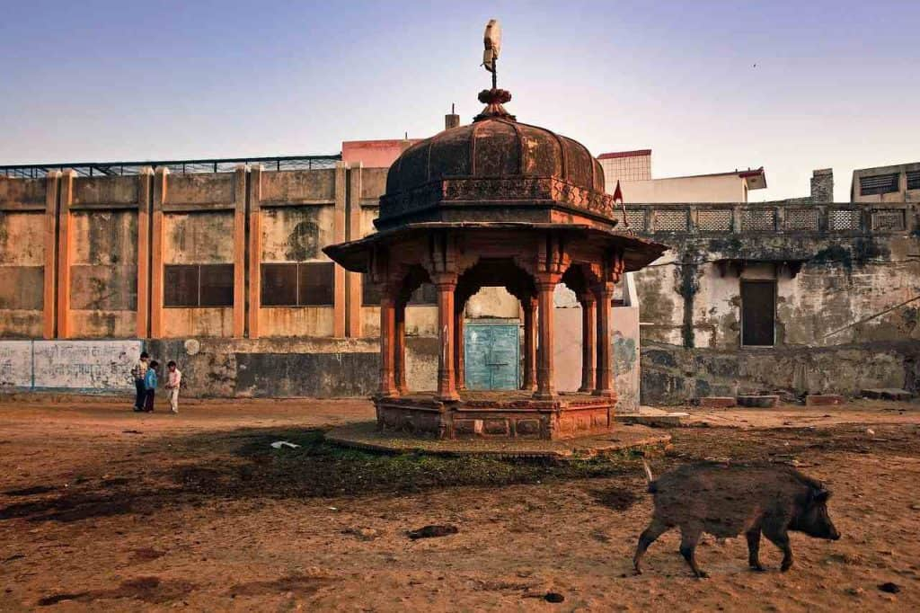 A temple in Vrindavan, Uttar Pradesh